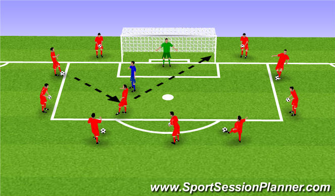 Football/Soccer Session Plan Drill (Colour): Find Space In The Box