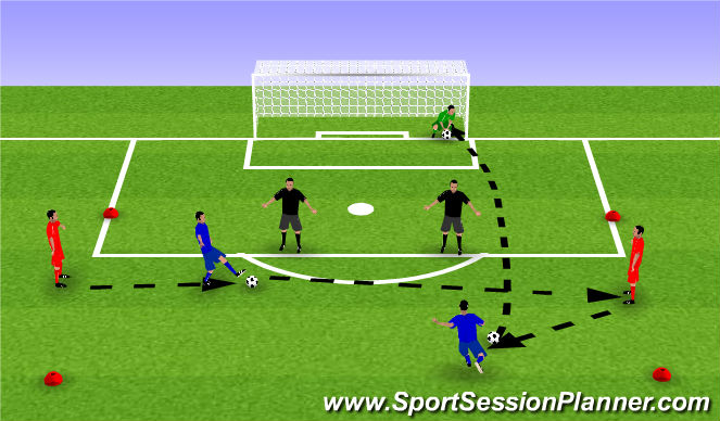 Football/Soccer Session Plan Drill (Colour): Shooting/ finishing