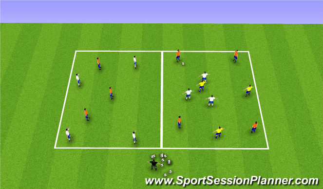 Football/Soccer Session Plan Drill (Colour): Expanded Smaal Sided Game