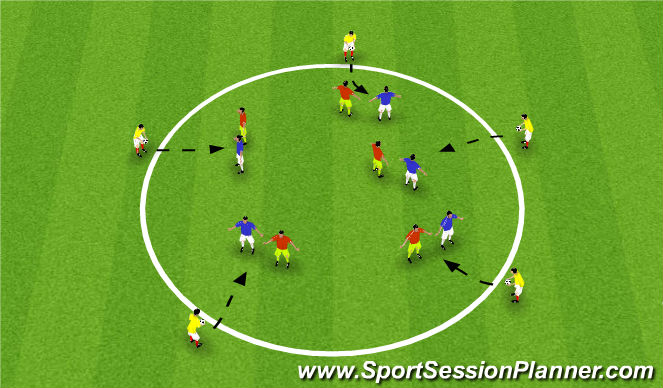 Football/Soccer Session Plan Drill (Colour): Station #3 - Heading Challenge