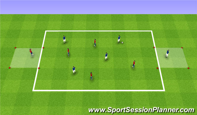Football/Soccer Session Plan Drill (Colour): SSG: Possession