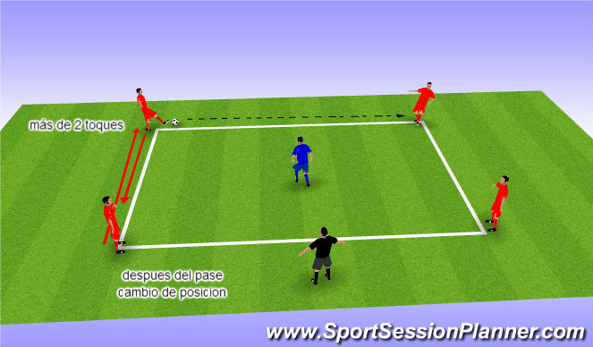 Football/Soccer Session Plan Drill (Colour): control 1