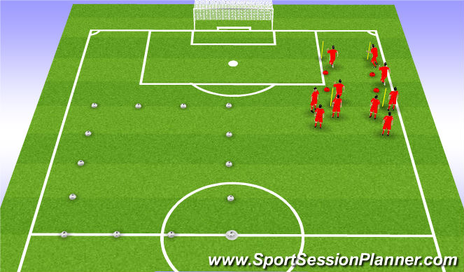 Football/Soccer Session Plan Drill (Colour): Part 1) Linear