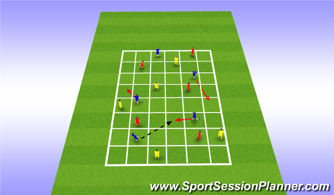 Football/Soccer Session Plan Drill (Colour): Skill Practice - Start