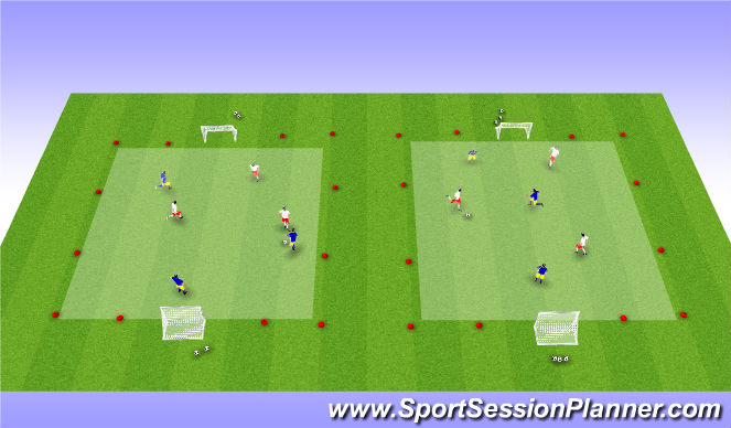 Football/Soccer Session Plan Drill (Colour): Open with Small Sided Game