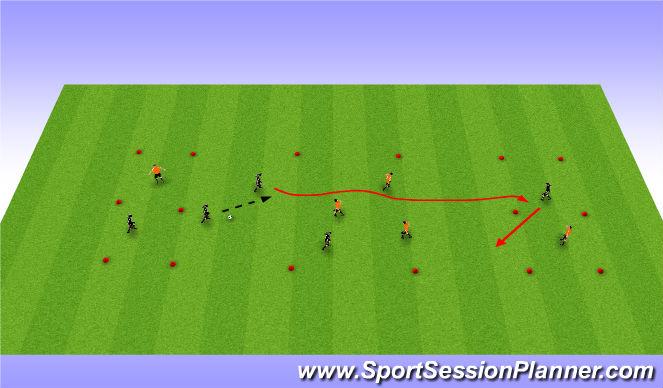 Football/Soccer Session Plan Drill (Colour): RWTB Part 1