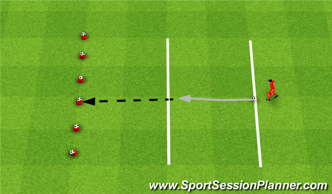 Football/Soccer Session Plan Drill (Colour): Shooting game. Gra bułgarska