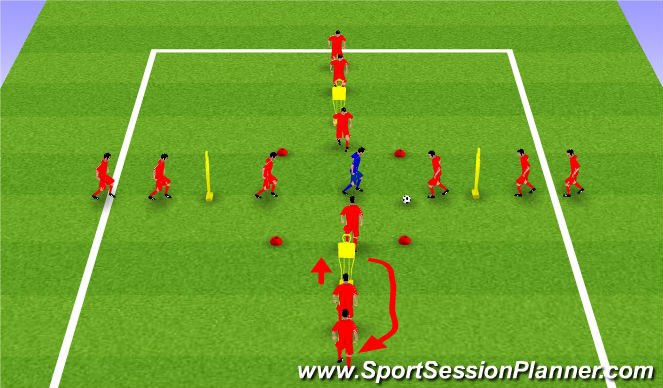 Football/Soccer Session Plan Drill (Colour): 4v1 Rondo