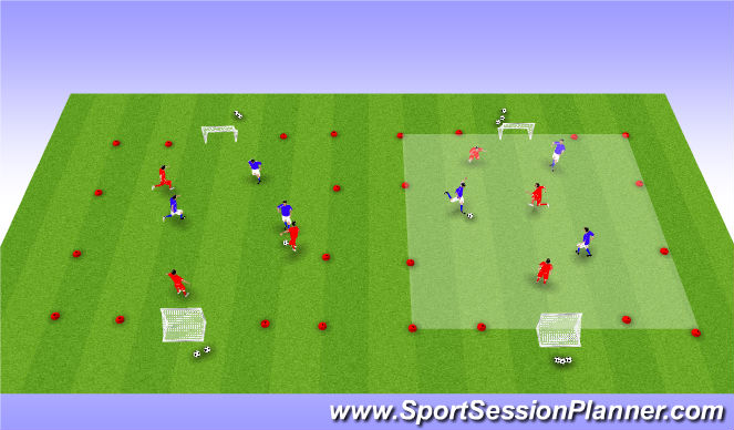 Football/Soccer Session Plan Drill (Colour): Toernooi 3v3