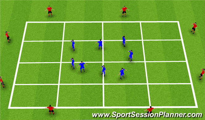 Football/Soccer Session Plan Drill (Colour): Blank Grid