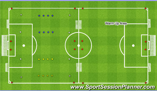 Football/Soccer Session Plan Drill (Colour): Park Set Up