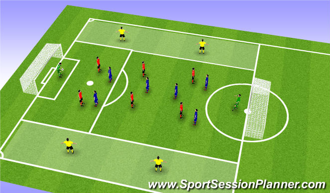 Football/Soccer Session Plan Drill (Colour): STP SSG