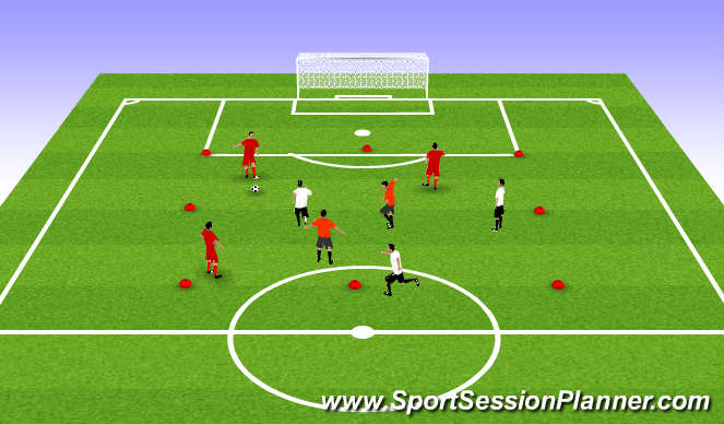 Football/Soccer Session Plan Drill (Colour): Posession drill