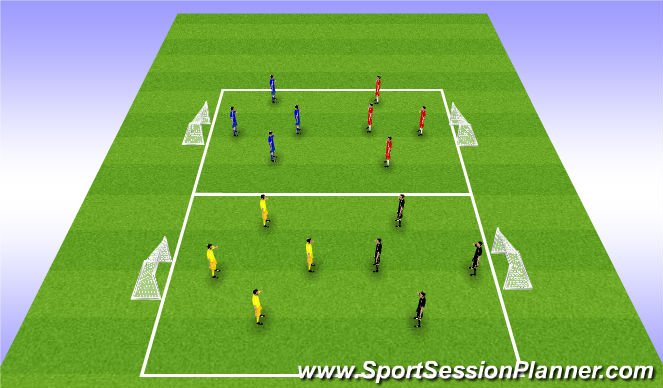 Football/Soccer Session Plan Drill (Colour): Warm-Up - Handball