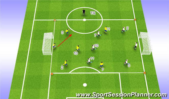 Football/Soccer Session Plan Drill (Colour): WV variatie 3