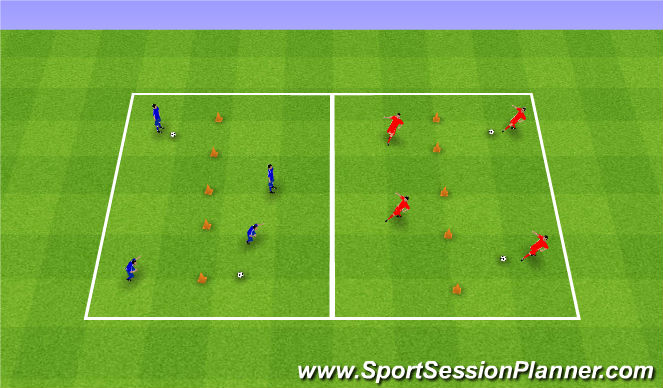 Football/Soccer Session Plan Drill (Colour): Break the wall