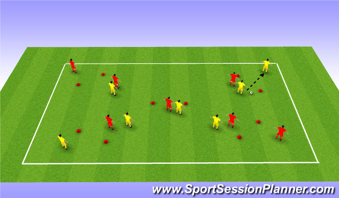 Football/Soccer Session Plan Drill (Colour): Gates Game 2