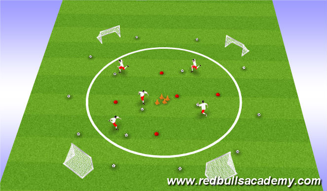 Football/Soccer Session Plan Drill (Colour): Planet Exploring
