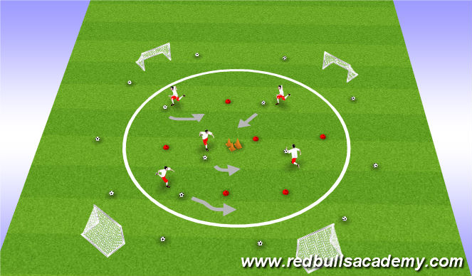 Football/Soccer Session Plan Drill (Colour): Alien Attack
