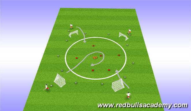 Football/Soccer Session Plan Drill (Colour): Space Race