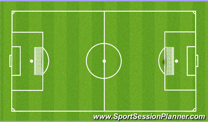 Football/Soccer Session Plan Drill (Colour): Phase 4 - Game