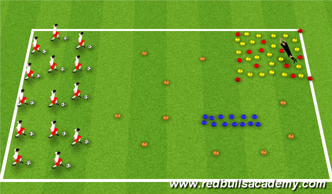 Football/Soccer Session Plan Drill (Colour): Sleeping Giant