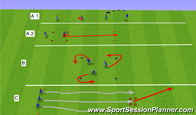 Football/Soccer Session Plan Drill (Colour): Líkamleg þjálfun: