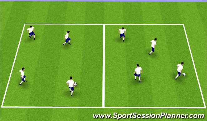 Football/Soccer Session Plan Drill (Colour): Technical Passing Practice