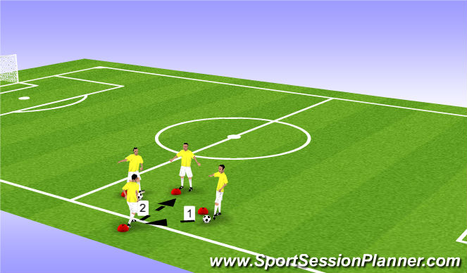 Football/Soccer Session Plan Drill (Colour): Warm-up Technical