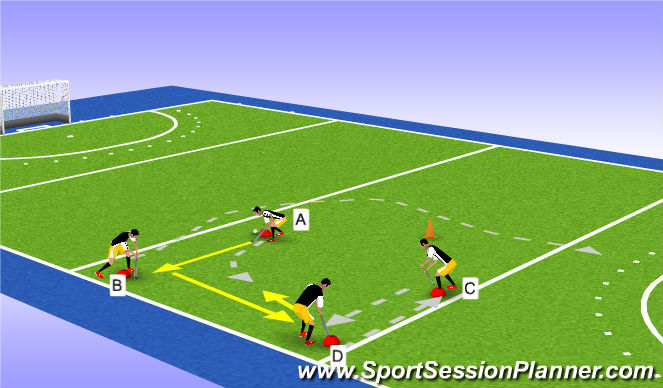 Hockey Session Plan Drill (Colour): breedte switch