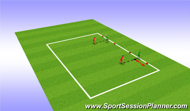 Football/Soccer Session Plan Drill (Colour): Handling
