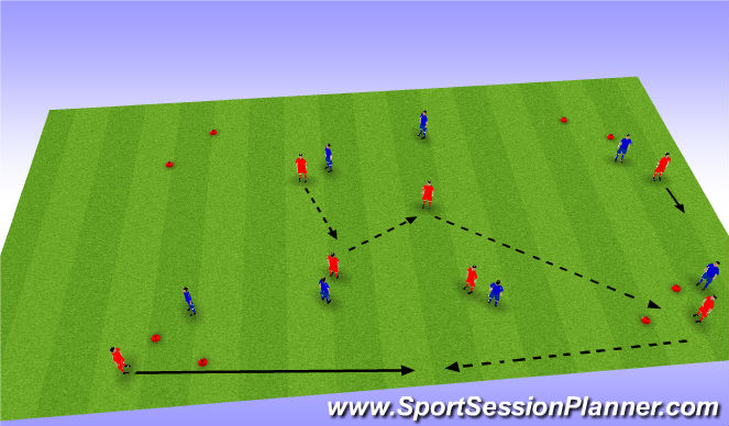 Football/Soccer Session Plan Drill (Colour): Possession & Speed of Play