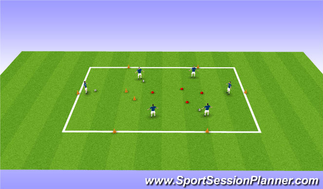 Football/Soccer Session Plan Drill (Colour): Ball manlipulation