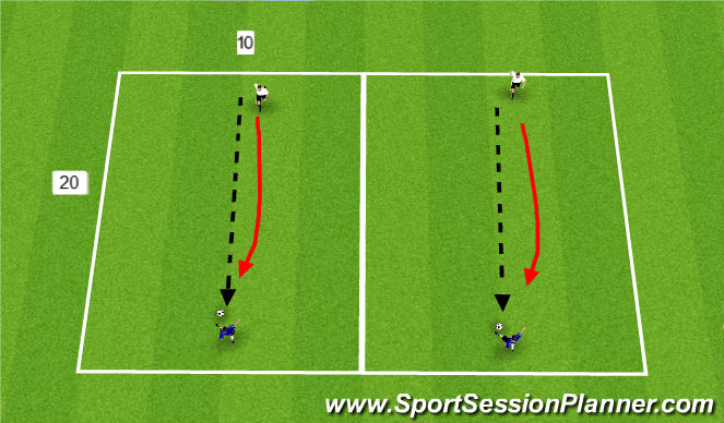 Football/Soccer Session Plan Drill (Colour): Morning Session