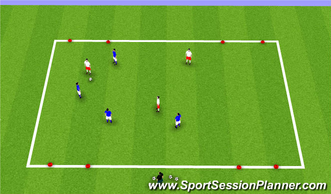 Football/Soccer Session Plan Drill (Colour): SSA OR SSG