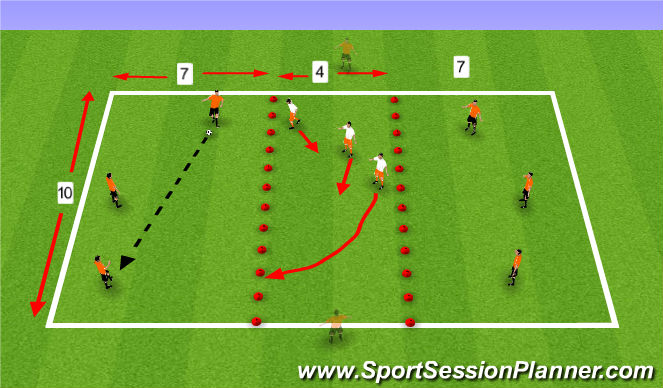Football/Soccer Session Plan Drill (Colour): Don't Get Split