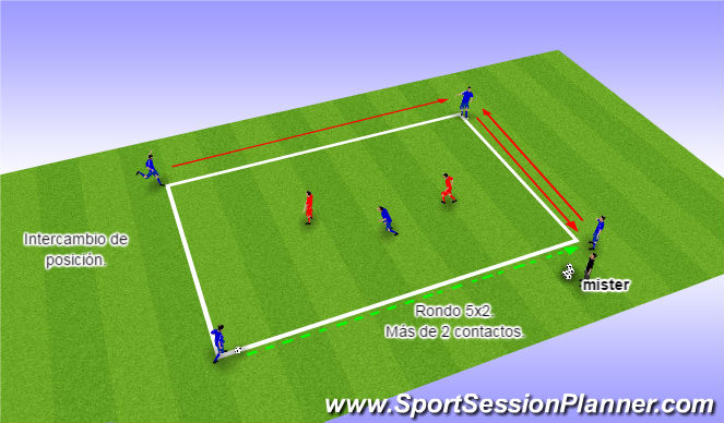 Football/Soccer Session Plan Drill (Colour): control 2