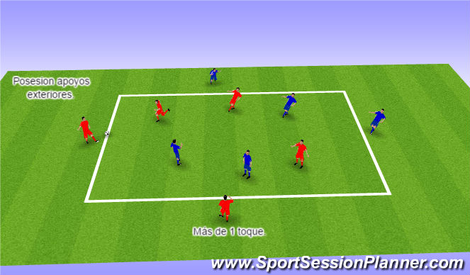 Football/Soccer Session Plan Drill (Colour): Control 4