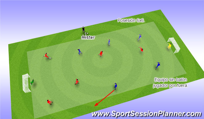 Football/Soccer Session Plan Drill (Colour): Control 5