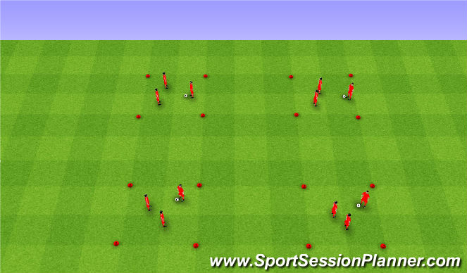 Football/Soccer Session Plan Drill (Colour): Warm up. Rozgrzewka.