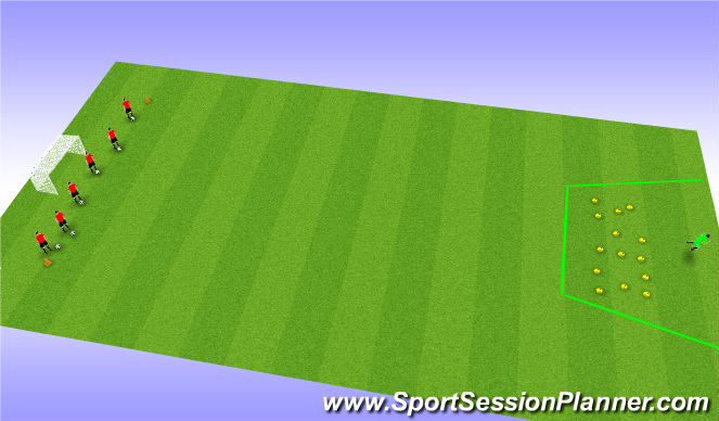 Football/Soccer Session Plan Drill (Colour): Shrek