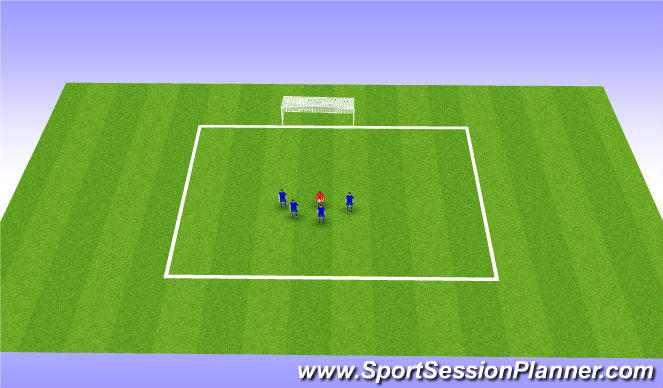 Football/Soccer Session Plan Drill (Colour): Shoot on Goal