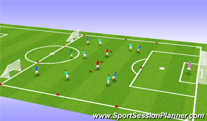Football/Soccer Session Plan Drill (Colour): Possession SSA