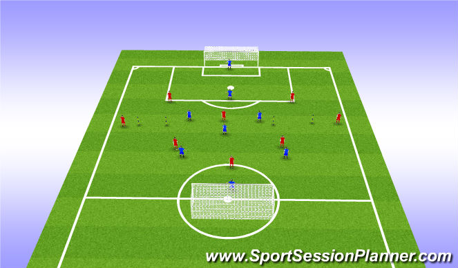 Football/Soccer Session Plan Drill (Colour): Shooting Conditioned Game