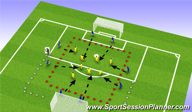 Football/Soccer Session Plan Drill (Colour): Control: Drill