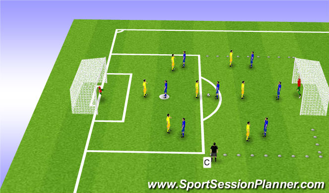 Football/Soccer Session Plan Drill (Colour): Control: Conditioned Game