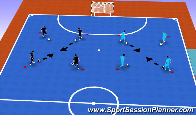 Futsal Session Plan Drill (Colour): Ball Mastery