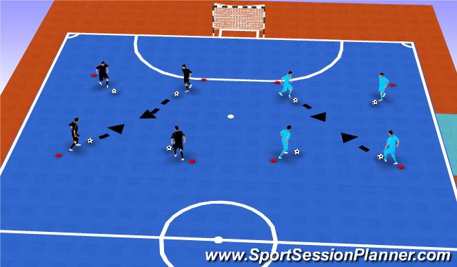 Futsal Session Plan Drill (Colour): Ball Mastery