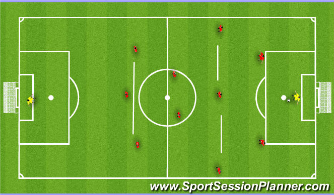 Football/Soccer Session Plan Drill (Colour): POFB