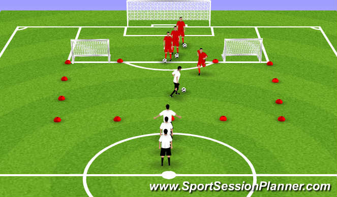 Football/Soccer Session Plan Drill (Colour): Bayer Leverkusen Training session